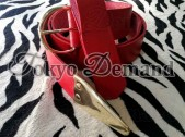Masonic Knight Temple Red Leather Belt With Frog, Regalia Knight Temple Red Leather Belt With Frog and Gold Buckle and Gold Top Brass, Sialkot Leather Belts Supplier